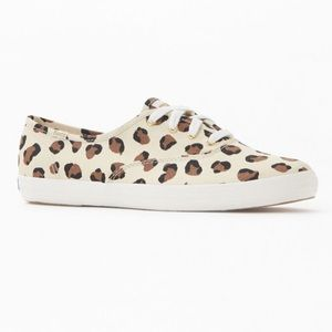 NEW KEDS Champion Leopard Canvas Sneakers